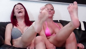 Double team ballbusting for you Ballbusting POV